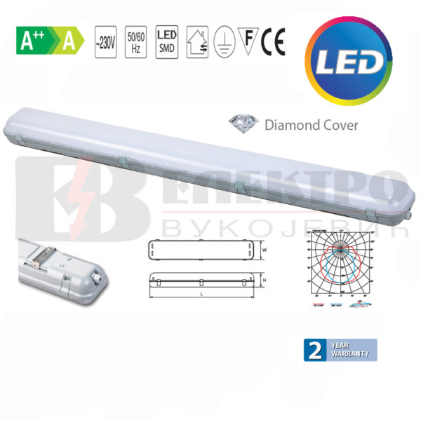 Vododihtujuće Vodotijesne lampe za LED cijevi 2x 18W Elektro Vukojevic
