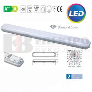 Vododihtujuće Vodotijesne lampe za LED cijevi 2x 36W Elektro Vukojevic