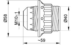 Sijalično grlo bakelitno E-27 Elektro Vukojevic