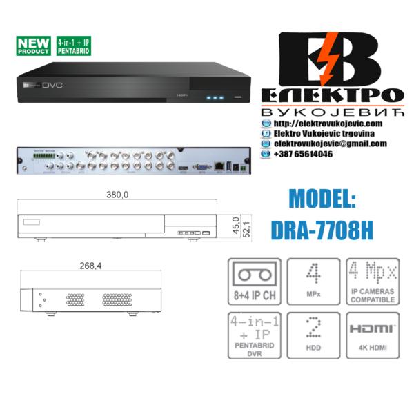 Video snimač 8-kanalni AHD 3.0 – 4K HDMI Elektro Vukojevic