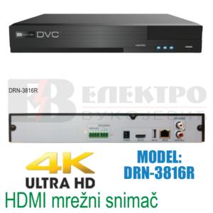 Mrežni snimač 16 kanalni 4K HDMI 8Mpx