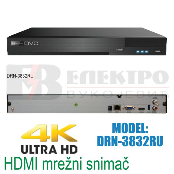 Mrežni snimač 32 kanalni 4K HDMI 8Mpx