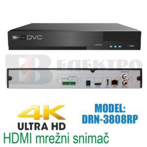 Snimač mrežni 8 kanalni 4K HDMI 8Mpx