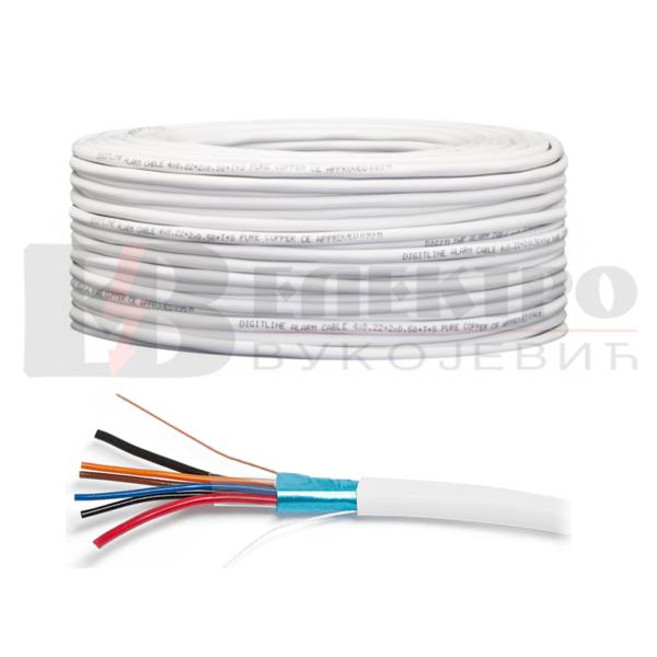 Kabal/kabel za alarme 2×0.5+4×0.22