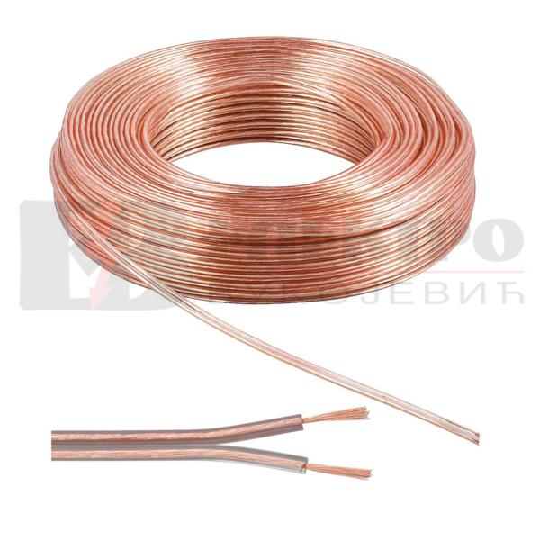 Kabal/kabel za zvucnik 2 X 0.75MM prozirni
